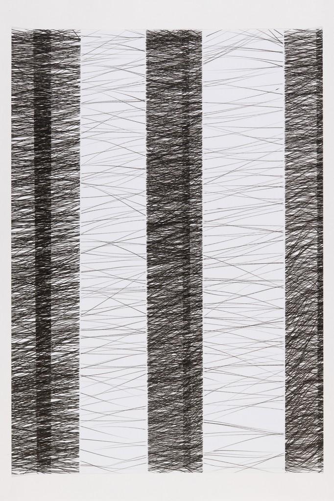 o.T., Tuschestift auf Papier, 100 x 150 cm