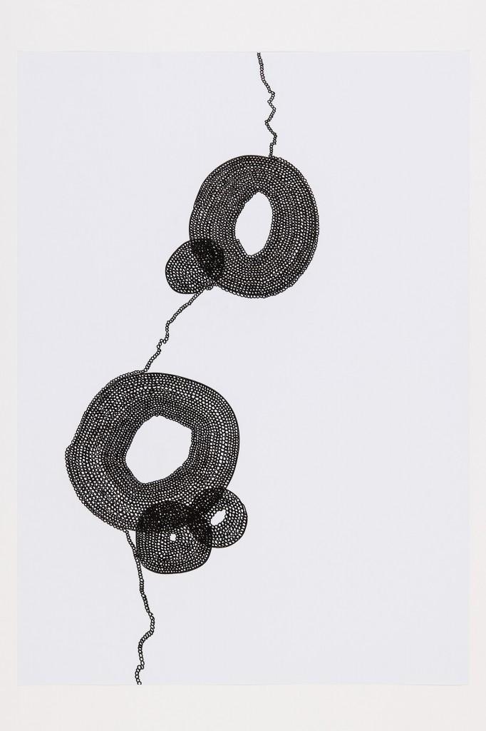 o.T., Tusche auf Papier, 70 x 100 cm,