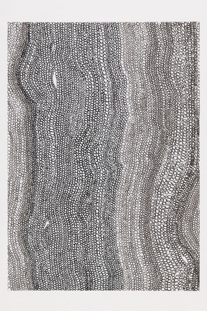 o.T. Tuschestift auf Papier, 70 x 100 cm